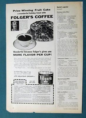 1955 Folgers Magazine Ad Photo Endorsement  by Marie Genton of Louisville KY