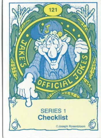 Jake's Official Jokes Card Set (121 Cards) & Free Case