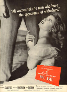 """Large 1947 large ad for movie """"The Private Affairs of Bel Ami"""""""