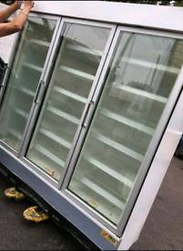 Verco commercial triple doors display freezer fully working