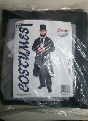 Alexanders President Abraham Lincoln Costume Large Deluxe Mens Honest Abe  New