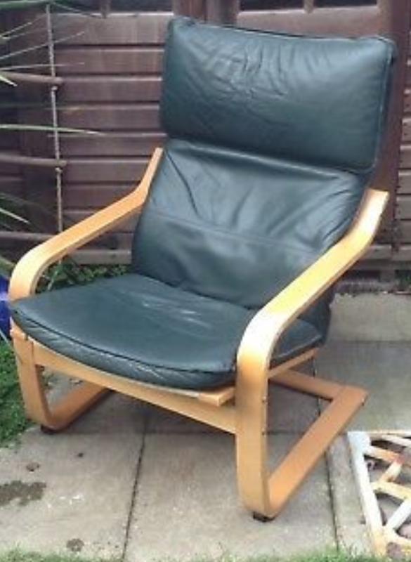 Enjoyable Vintage Ikea Poang Leather Chair In Norwich Norfolk Gumtree Uwap Interior Chair Design Uwaporg