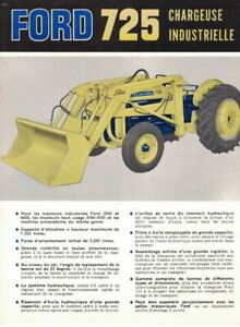 ANNÉES '60, FORD 725, CHARGEUSE INDUSTRIELLE, 4 PAGES