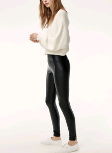 Tna faux leather leggings aritzia size medium.