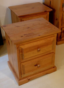 Solid Pine Bedside Night Tables