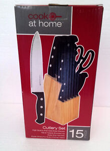 Brand new in box wooden knife block set London Ontario image 1