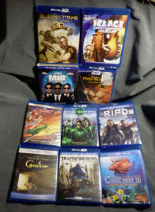 3D BLU-RAY ICE AGE4 Hobbit TRON CLASH PUSS GIJOE MORE MINT