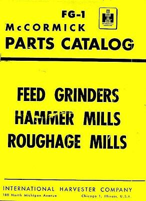 International Mccormick Feed Grinders B C D Roughage Mills No. 2 3 Parts Manual