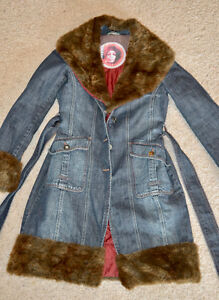 Ladies Denim Coat with Faux Fur Trim Edmonton Edmonton Area image 1