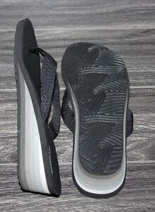 Still Available - Ladies Wedge Flip Flops - Black/Grey - Size 9 Kingston Kingston Area image 3