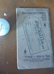 Hallams Trapper's Guide, Copyright 1912 Kitchener / Waterloo Kitchener Area image 2