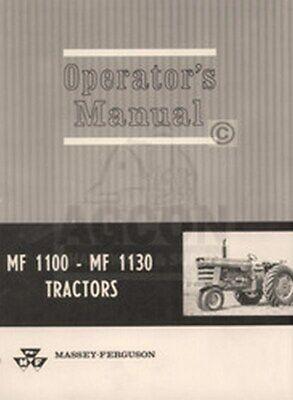 Massey Ferguson Mf 1100 Mf 1130 Tractor Operator Manual