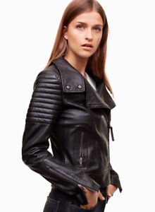 NEW  MACKAGE KASIE LEATHER JACKET SIZE SMALL COAT MANTEAU CUIR