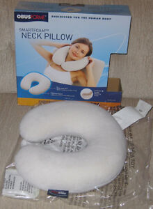 OBUS FORME MEMORY FOAM NECK PILLOW - USED ONCE