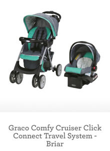 NEW Stroller and Car seat- Graco Comfy Cruiser Travel System