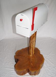 Wedding Card box mailbox stand cedar wood log