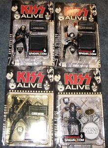Set of 4 Kiss Alive figures still on card