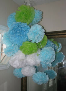 paper pom poms for showers