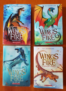 4 books from the Wings of Fire series