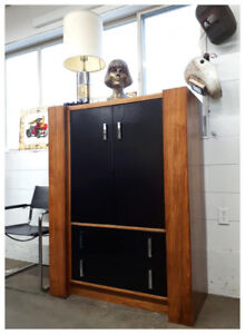 Vintage Cabinet with Chrome Pulls