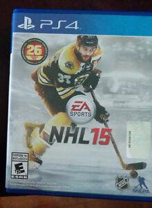Jeu NHL 2015 pour console Sony PS4