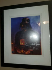 Autographed Darth Vader signed Star Wars photo prouse + jones
