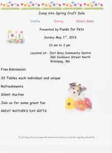 Elise Accessories at Funds for Pets Sunday May1st