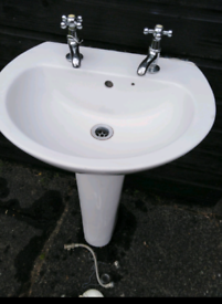 Wash Basin with Taps and Fittings