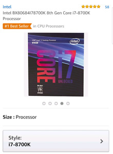 LOOKING FOR i7 8700k *Used*
