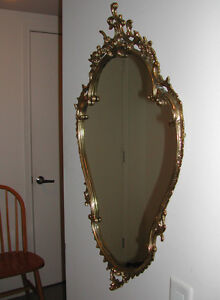 Solid Brass Mirror. Made in Italy.