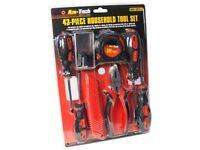 43pc household tool set