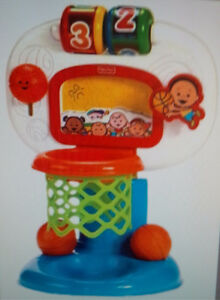 Fisher-Price Brilliant Basics Dunk 'n Cheer Basketball &LeapFrog