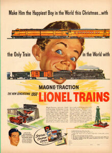 1950 (10 x 14) authentic magazine ad for Lionel Electric Trains