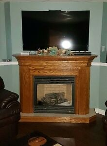 Oak Fireplace Mantel only insert not included
