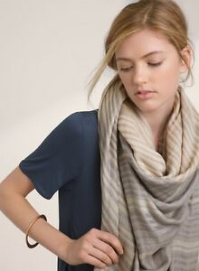 Aritzia Wilfred Splice Stripe Blanket Scarf