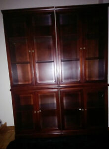 high 10 self 4 piece unit - has beveled glass and brass fixtures