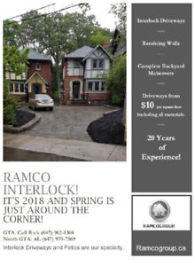 Ramco 20 Years of Landscaping--Interlocking--Pool Fill-Ins