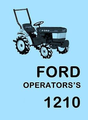 Ford 1210 Tractor Owner Operators Manual