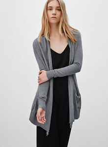WILFRED 'Flaubert' grey light-weight cardigan size S