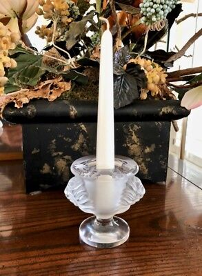Lalique Tete D' Lion Double Lion Head Candle Holder or Cigarette (Lalique Lion Head)