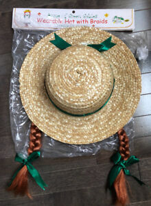 Anne of Green Gables hat with hair