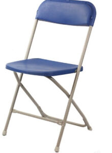 Folding chairs and tables for party rentals