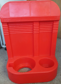 Double Red Fire Extinguisher Stand