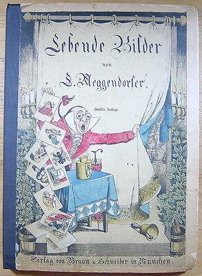 Ziehbilderbuch von Lothar Meggendorfer - Lebende Bilder - um 1890 - Kinderbuch