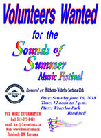 Volunteers Wanted for the Sounds of Summer Music Festival