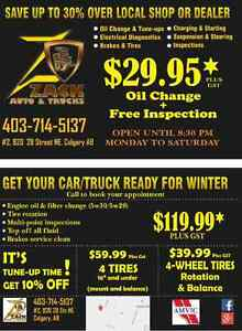 29.95$ oil change + free inspection
