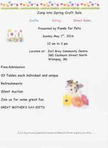 Jump into Spring Craft Sale with Funds for Pets Rescue