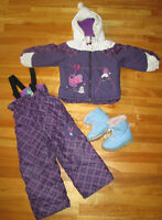 Ensemble GagouTagou Manteau+Salopette+Bottes FILLE 3T