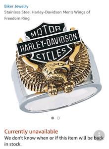 Harley Davidson 'Wings of Freedom' Men's Ring Sz 9