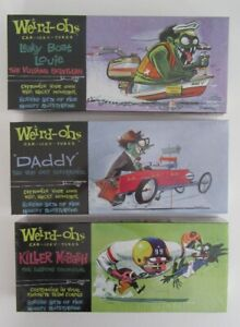 3  Weird-oh's Car-icky-tures Plastic model kits  2006